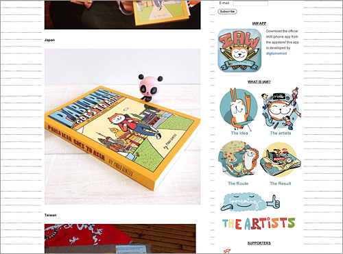 http://www.plushilu.com/illustrationaroundtheworld/pablo-bear-goes-to-asia-the-book/